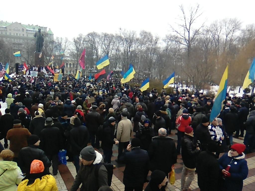 Парк Шевченко. Митинг противников коррупции в Киеве.