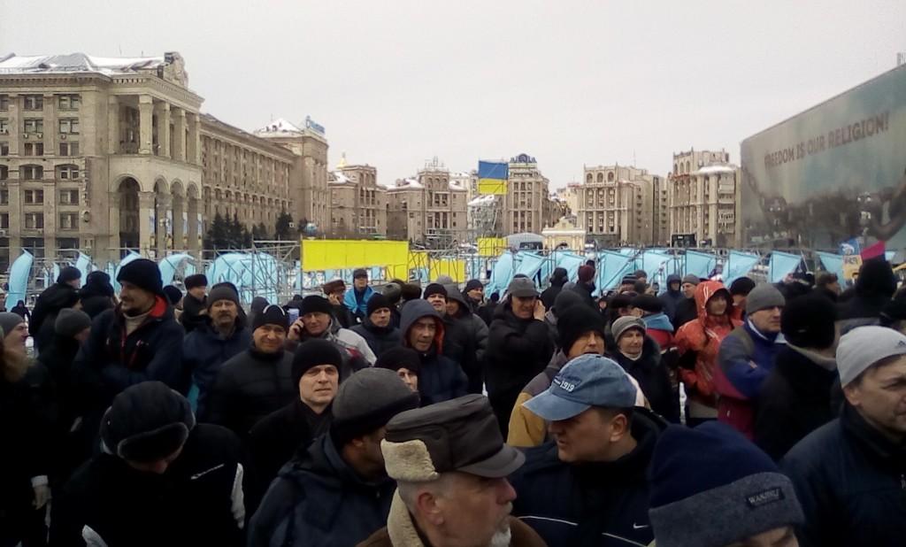 Митинг в Киеве против коррумпированного президента Петра Порошенко