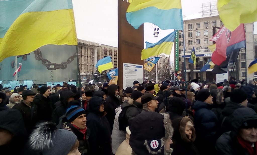 Митинг на Майдане против коррупции президента Петра Порошенко